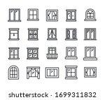 big set of window line icons.... | Shutterstock .eps vector #1699311832
