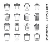 Simple Set Of Trash Can Icons...