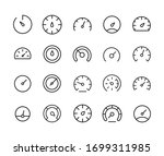 stroke line icons set of... | Shutterstock .eps vector #1699311985