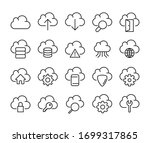 computer cloud line icons set.... | Shutterstock .eps vector #1699317865