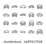 car line icons set. stroke... | Shutterstock .eps vector #1699317928