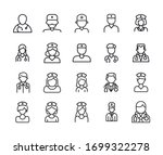 vector line icons collection of ... | Shutterstock .eps vector #1699322278
