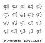 icon set of megaphone. editable ... | Shutterstock .eps vector #1699322365