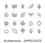 icon set of leaf. editable... | Shutterstock .eps vector #1699322425