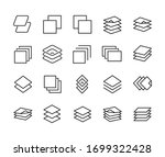 layers line icons set. stroke... | Shutterstock .eps vector #1699322428