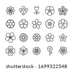 icon set of flower. editable... | Shutterstock .eps vector #1699322548