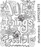 hand drawn with inspiration... | Shutterstock .eps vector #1699325875