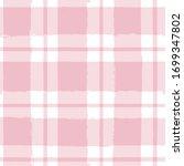seamless tartan girly pattern ... | Shutterstock .eps vector #1699347802