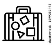 Suitcase With Stickers Icon....