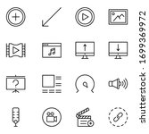 sign icon set. collection of... | Shutterstock .eps vector #1699369972