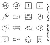 sign icon set. collection of... | Shutterstock .eps vector #1699369975