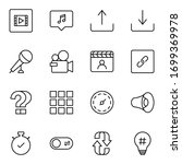 sign icon set. collection of... | Shutterstock .eps vector #1699369978