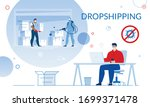 dropshipping in global covid19... | Shutterstock .eps vector #1699371478