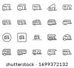 trailer icon set. collection of ... | Shutterstock .eps vector #1699372132