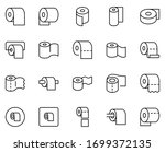 toilet paper line icon set.... | Shutterstock .eps vector #1699372135