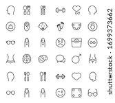 people line icon. vector symbol ... | Shutterstock .eps vector #1699373662