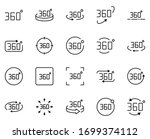 vr set line icons in flat... | Shutterstock .eps vector #1699374112