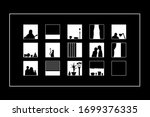 eps 10 vector. a house with... | Shutterstock .eps vector #1699376335