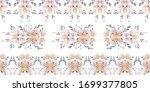 vintage flower native pattern.... | Shutterstock .eps vector #1699377805