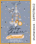cute baby shower in... | Shutterstock .eps vector #1699378612