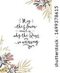 hello spring. botanical set... | Shutterstock .eps vector #1699378615