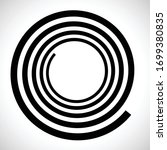 lines in circle form . spiral... | Shutterstock .eps vector #1699380835