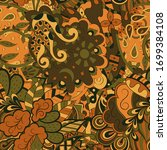 tracery seamless pattern.... | Shutterstock .eps vector #1699384108