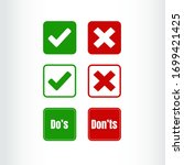 do's and don't s sign icons...   Shutterstock .eps vector #1699421425