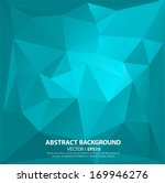 blue geometric pattern ... | Shutterstock .eps vector #169946276