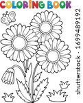 Coloring Book Daisy Flower...