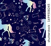 cute girlish pattern with stars ... | Shutterstock .eps vector #1699508245