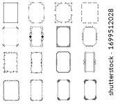 vintage calligraphic frames.... | Shutterstock .eps vector #1699512028