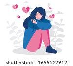 broken heart or teenager...   Shutterstock .eps vector #1699522912