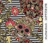 seamless pattern  background... | Shutterstock .eps vector #1699558198