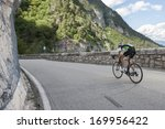 woman road cycling | Shutterstock . vector #169956422