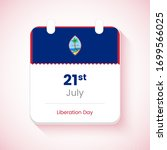 21st july  liberation day of... | Shutterstock .eps vector #1699566025