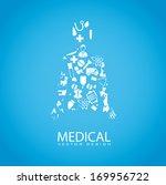 medical design over blue... | Shutterstock .eps vector #169956722
