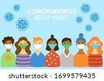 cute people characters in... | Shutterstock .eps vector #1699579435