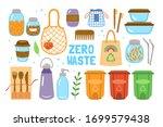 zero waste concept with cute... | Shutterstock .eps vector #1699579438