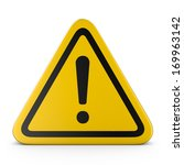hazard warning attention sign... | Shutterstock . vector #169963142