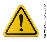 hazard warning attention sign... | Shutterstock . vector #169963142