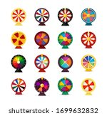 set of fortune wheels  lottery...   Shutterstock .eps vector #1699632832