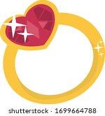 wedding rings. engagement rings.... | Shutterstock .eps vector #1699664788