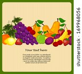 wreath from fruit for a healthy ... | Shutterstock . vector #169968056