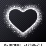 silver heart frame with...   Shutterstock .eps vector #1699681045