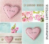 valentines day collage with... | Shutterstock . vector #169970216