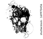 black grunge vector skull | Shutterstock .eps vector #169970456