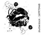 grunge open mouth | Shutterstock .eps vector #169970468