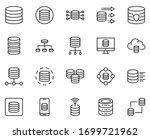 Database Design Icons Set. Thin ...