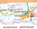 Unterseen on a geographical map of Switzerland
